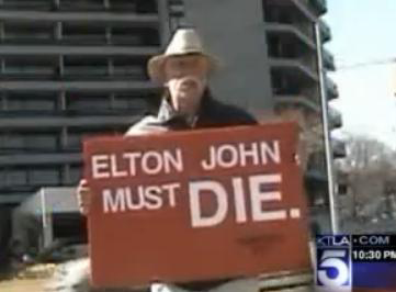 Neal Horsley Accused of Threatening Elton John on You Tube