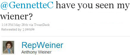 Anthony Weiner 's Twitter Account Sent Crotch Pic to Woman