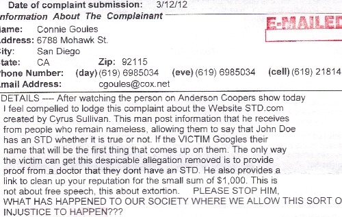 Connie Goules Gave the Department of Justice False Info