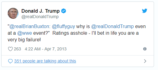 Donald Trump Putting People Down by Calling Them Failures