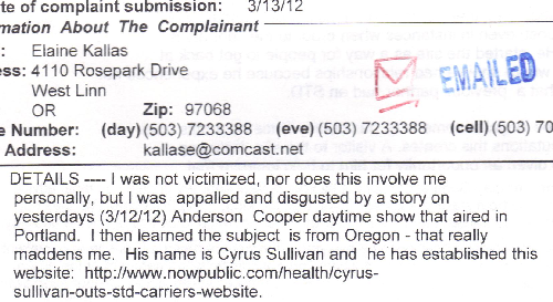 Elaine Kallas Gave False Info to the Oregon Attorney General