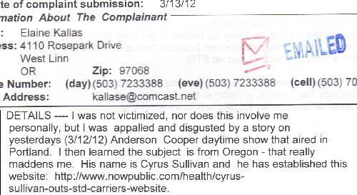 Elaine Kallas Gave False Info to the Oregon Attorney General