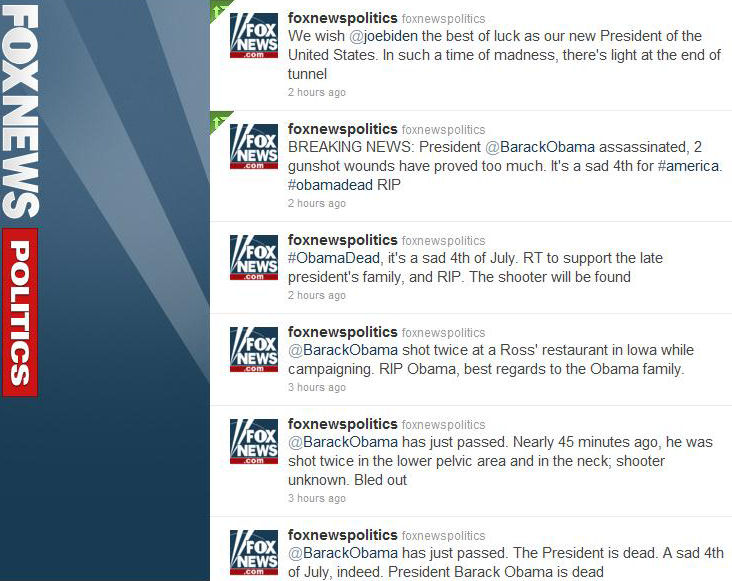 Fox News Politics Twitter Account Hacked - Pictures Included