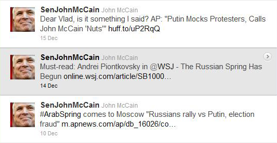 @SenJohnMcCain Stop Poking The Bear #Russia #Putin