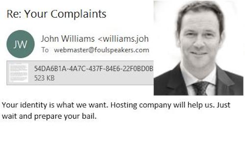 John Williams of London Stalking Webmasters via Registrars