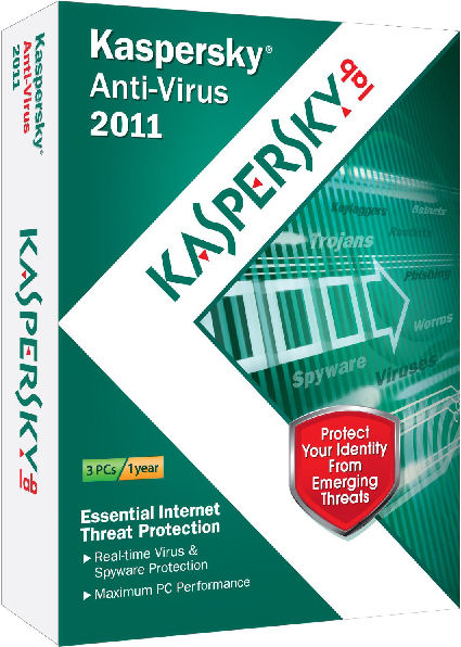 Kaspersky Anti-Virus 2011 for 3 Users with Video Review