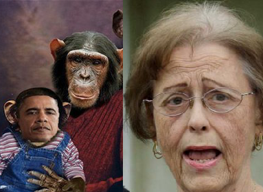 Marilyn Davenport's Racist Obama Chimpanzee Picture