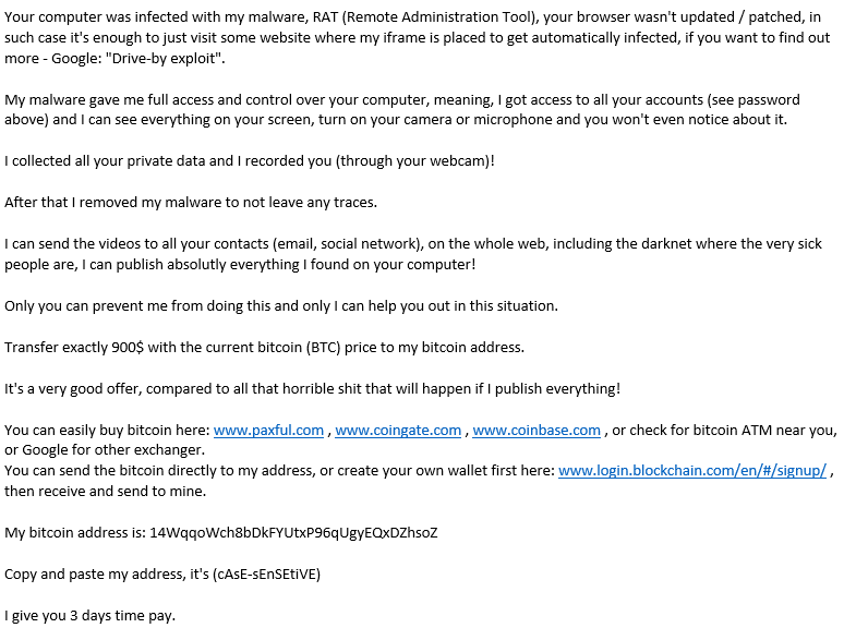 "Relentless Ransome Spam Email Attacks from ""Save Yourself"""