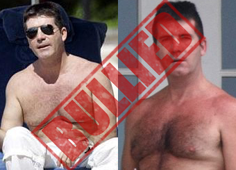 Simon Cowell Bullied with Pictures of His Hairy Man Boobs